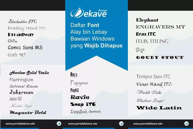 Daftar Font Lebay Bawaan Windows yang Sebaiknya Dihapus