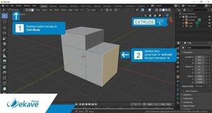 Teknik Dasar 3D Modelling di Software Blender 2.8 1