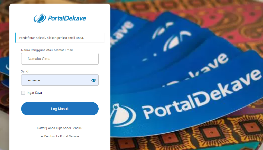 daftar kotributor portal dekave